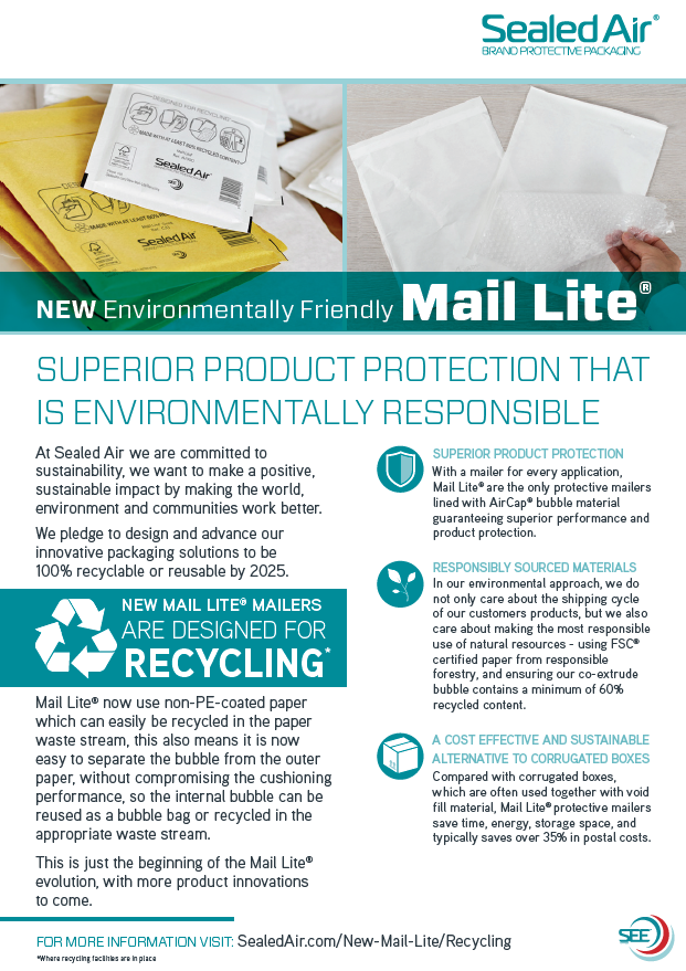 Sealed Air Environmentally Responsible Packaging Flyer
