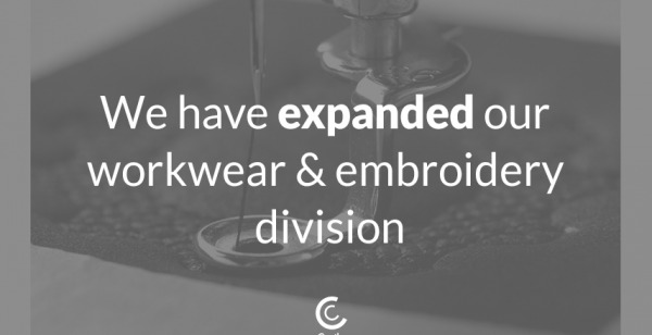 We have expanded our workwear and embroidery division